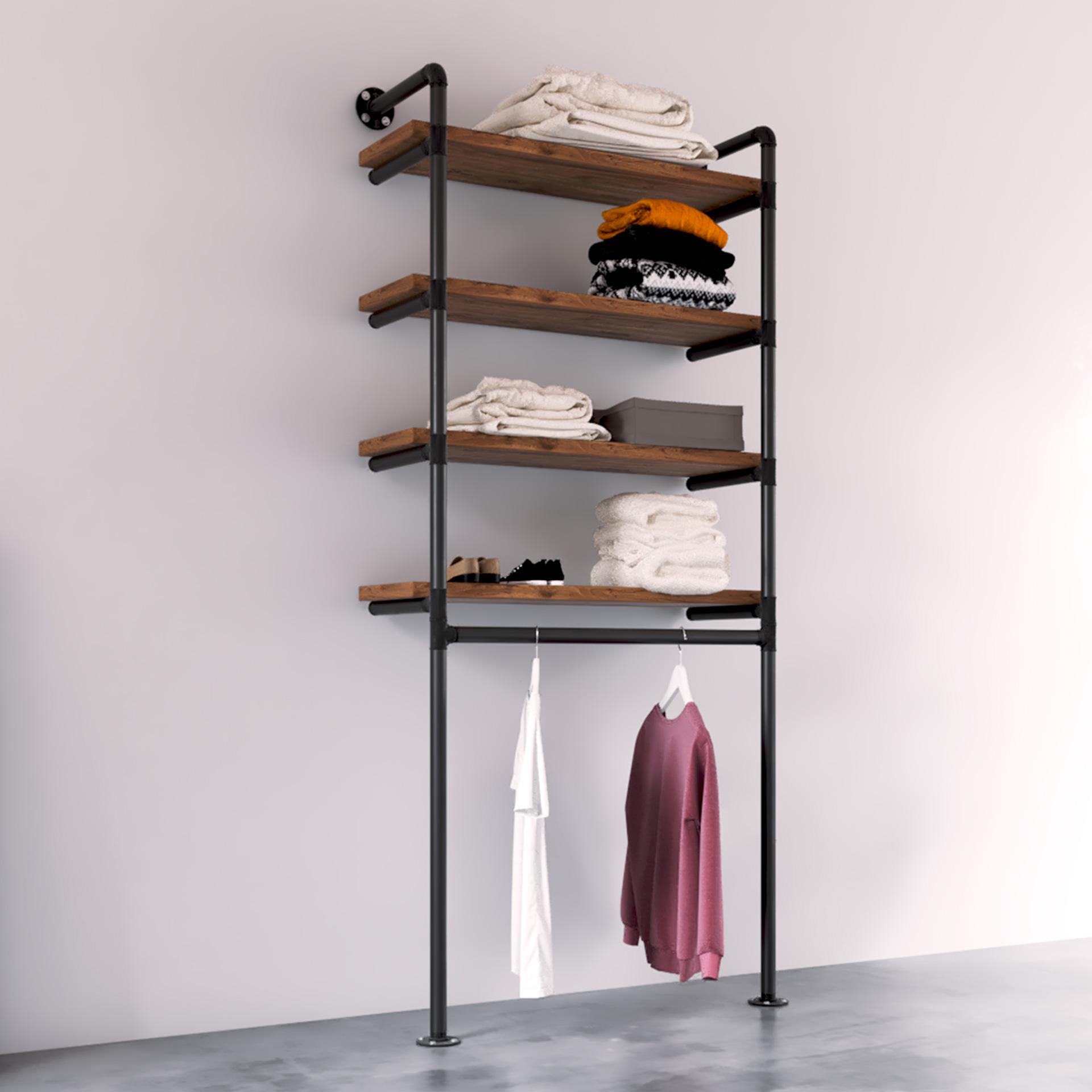 modelo Beta Burro ropa estilo industrial vintage tienda gondola rack La Antigua Viruta