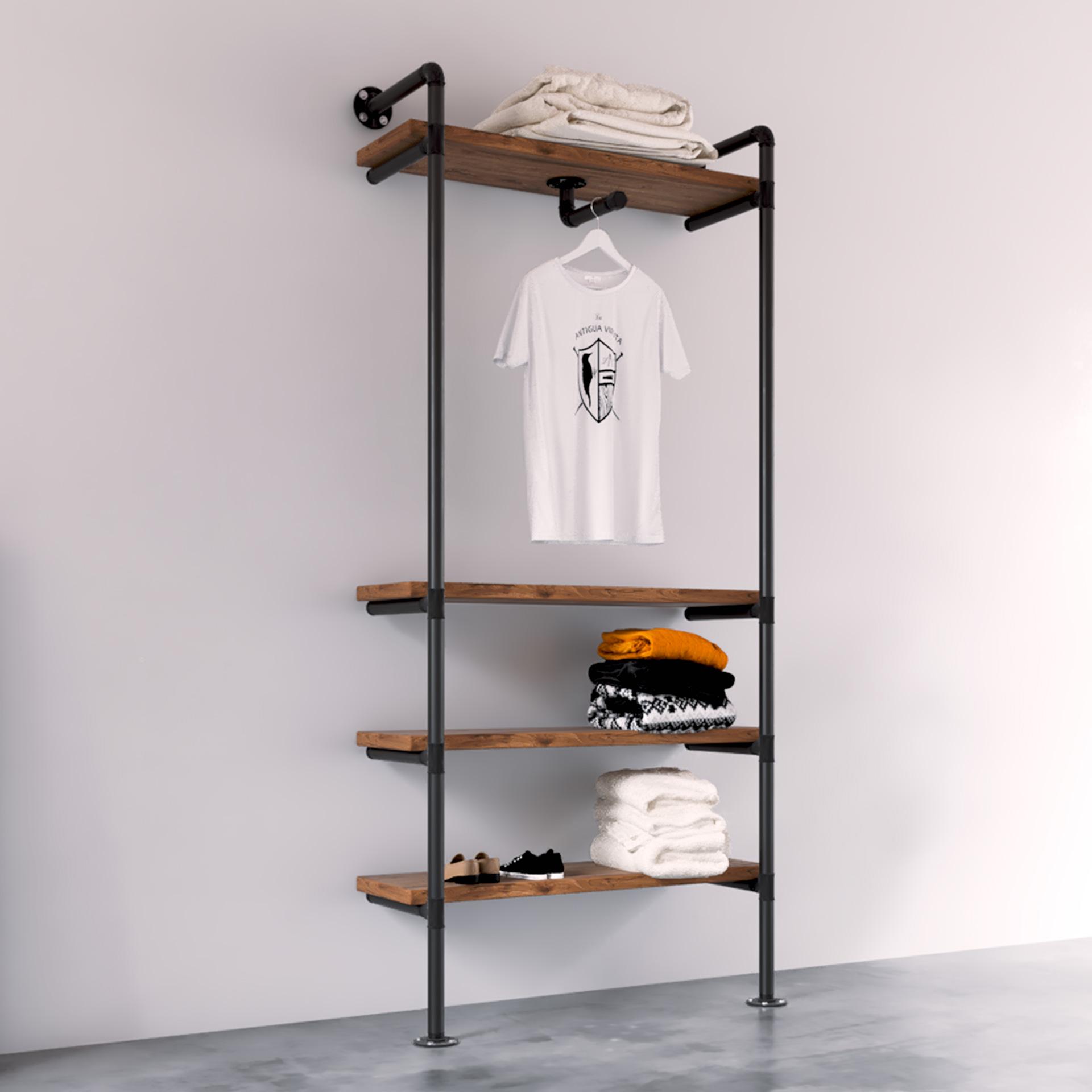 modelo Gamma Burro ropa industrial vintage estilo gondola rack tiendas La Antigua Viruta