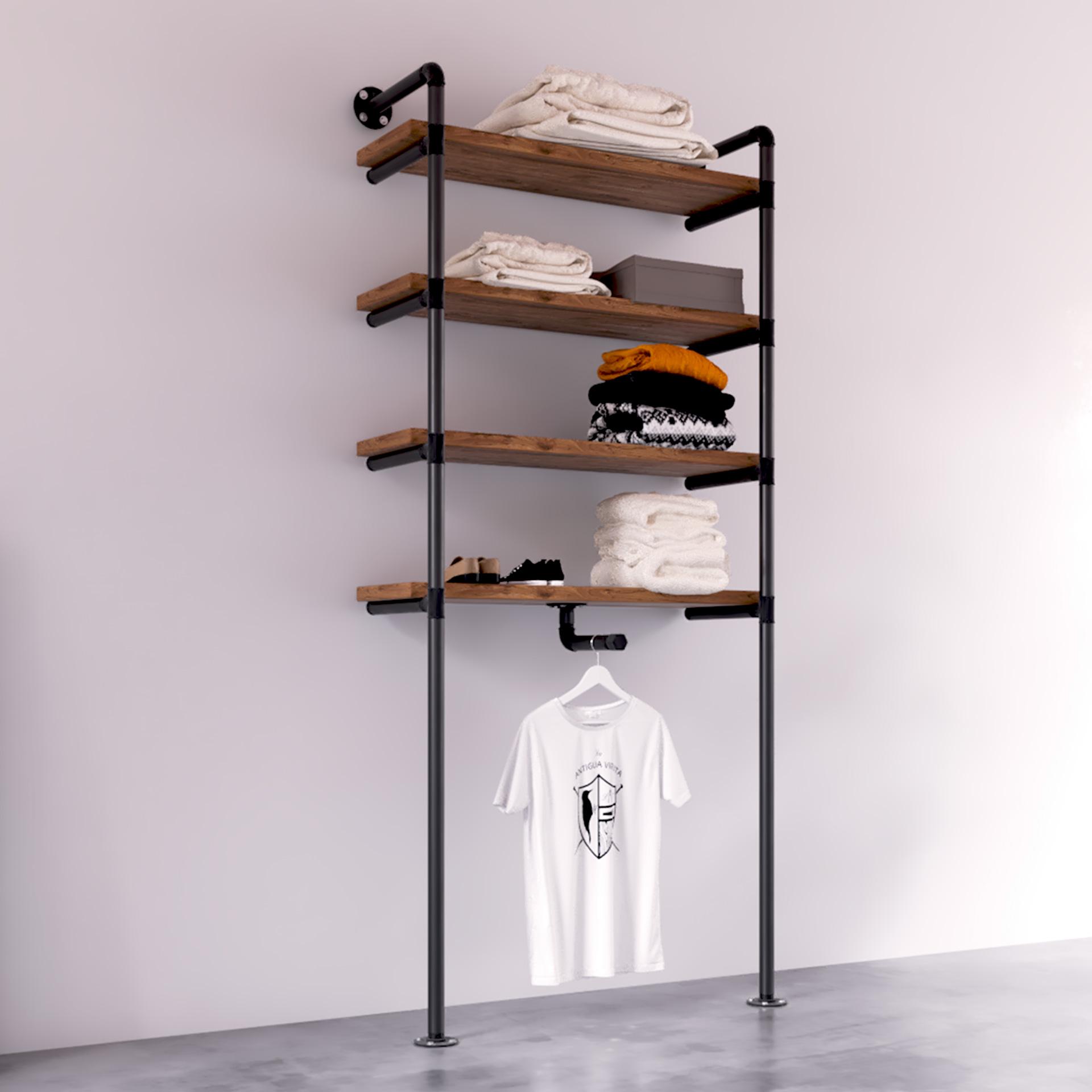 modelo Delta-Burro ropa industrial vintage estilo gondola tiendas La Antigua Viruta