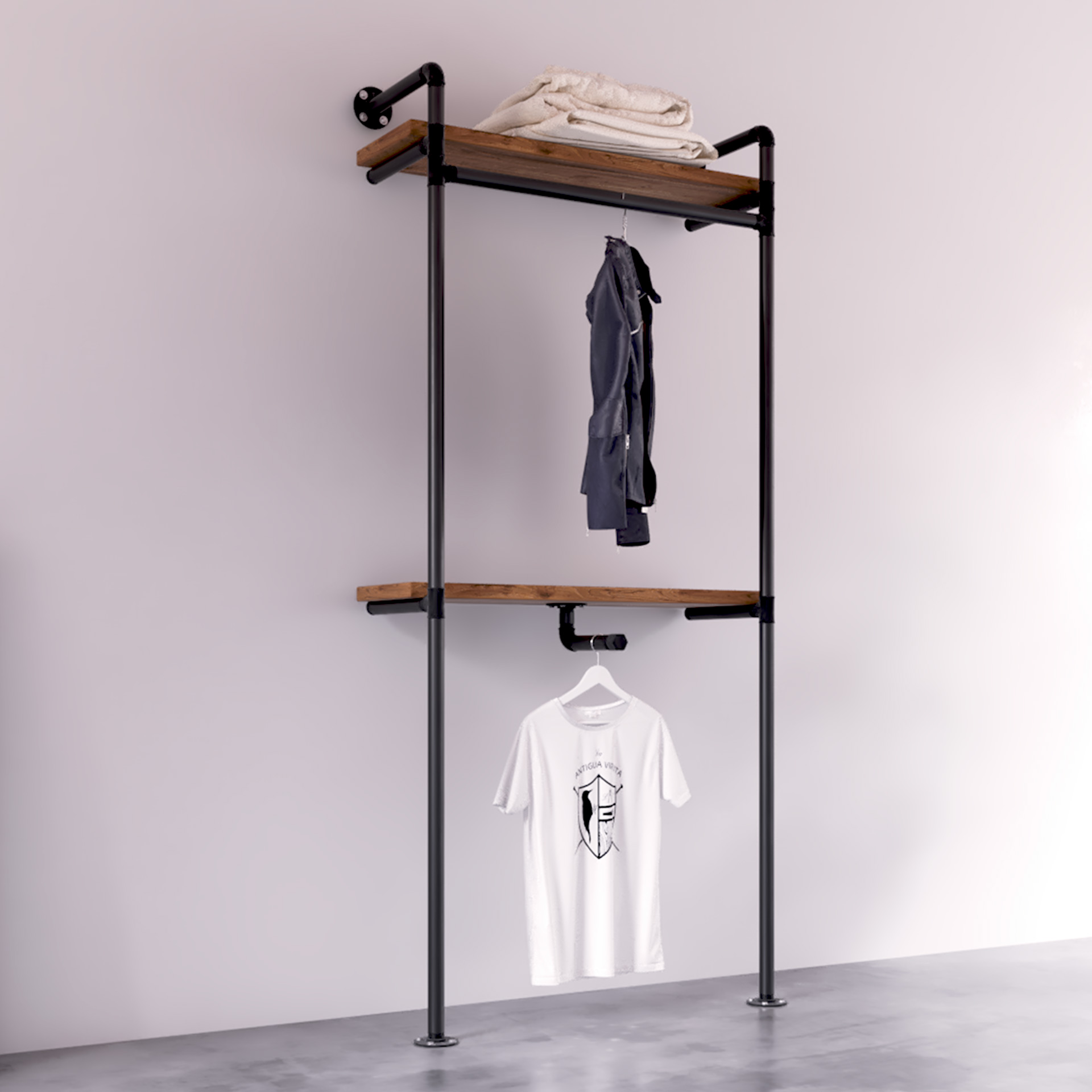 burro ropa tuberia para tienda modelo Portland Perspectiva