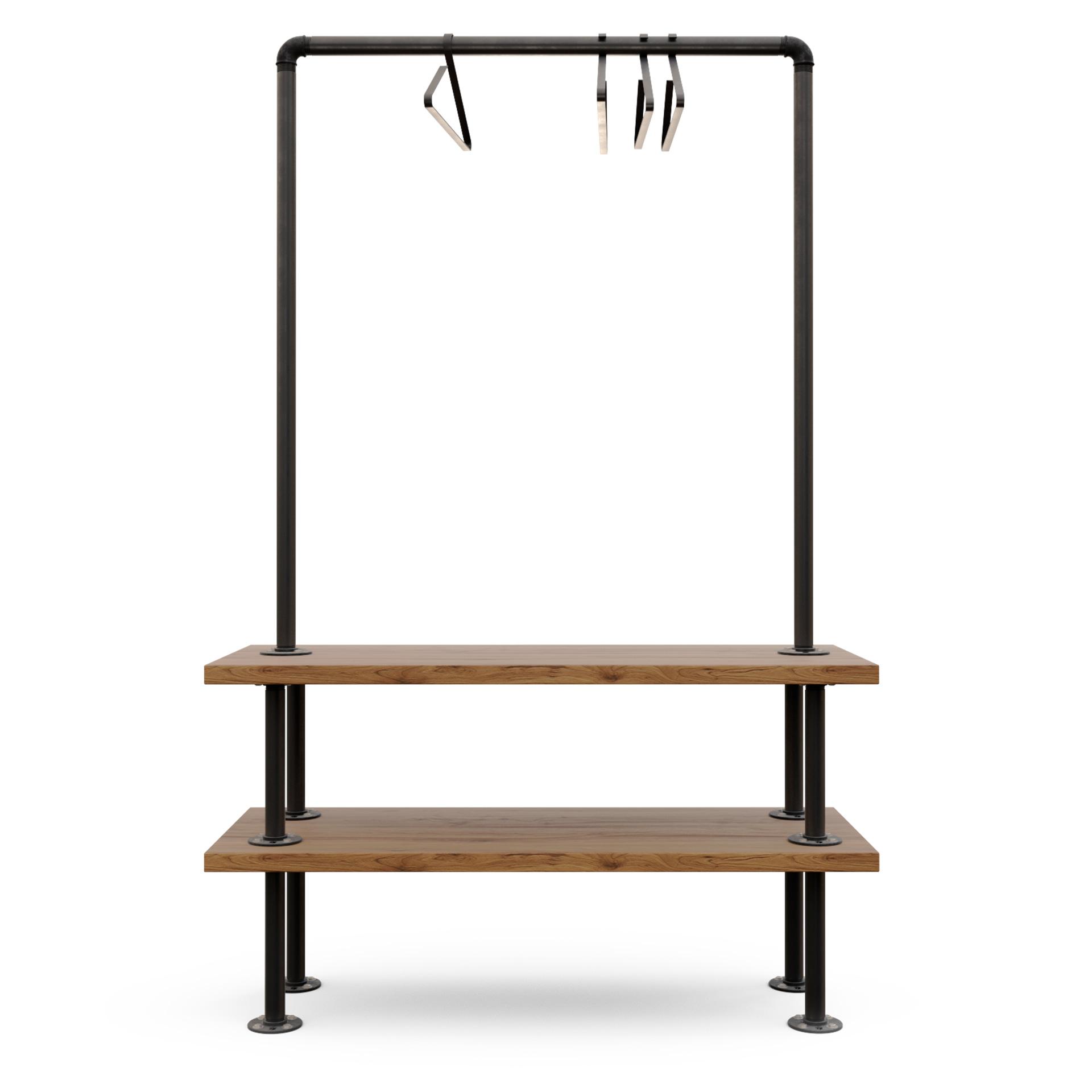 perchero ropa comercial para tienda modelo Portland Frontal