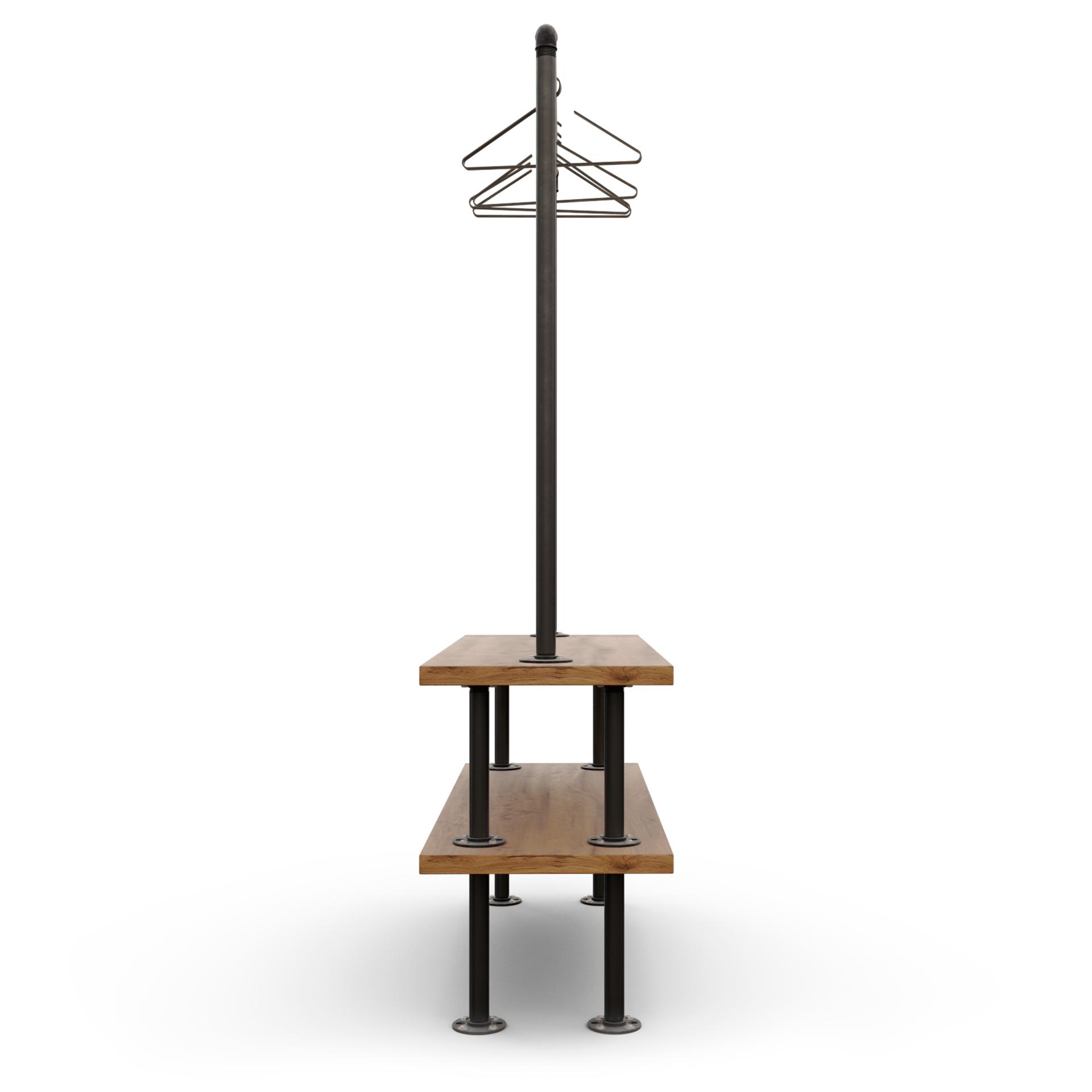 rack ropa industrial para tienda modelo Portland Lateral