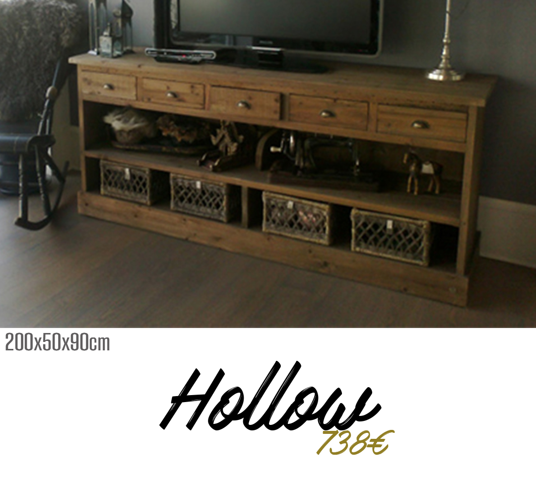 mueble tv a medida hollow